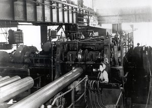 Woman working at Youngstown Sheet and Tube