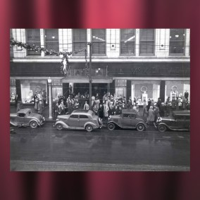 McKelvey's department store in downtown Youngstown is decorated for the holidays in the 1940s.  <br><br>Gift of Thomas J. Seifert, 88.107.37