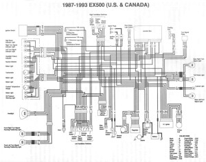 Kawasaki Ex500 Wiring Diagram  Wiring Diagram And Schematics