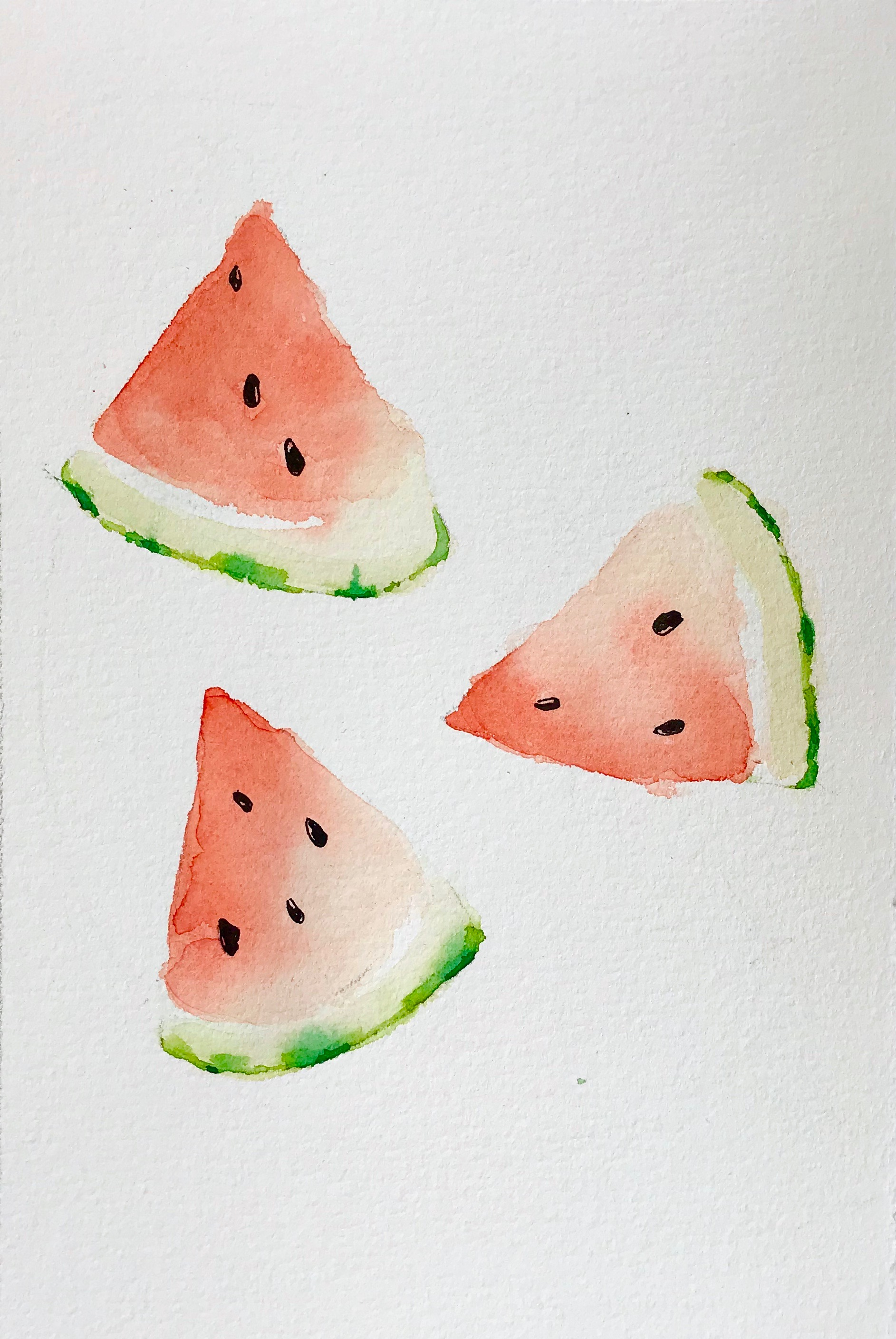 watermelon watercolor painting tutorial