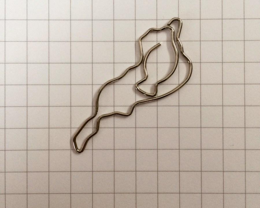 琵琶湖の形のかわいいクリップ|びわこクリップ