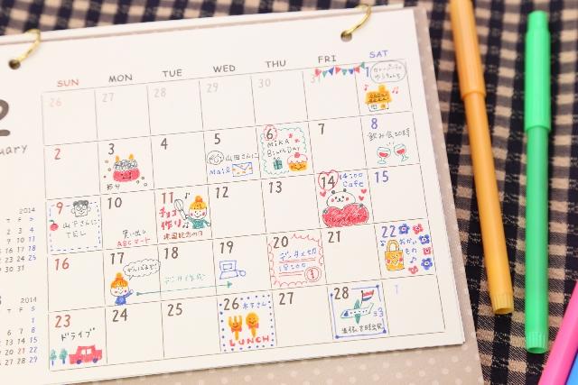 コラム|カレンダーを手帳に置き換えてみよう