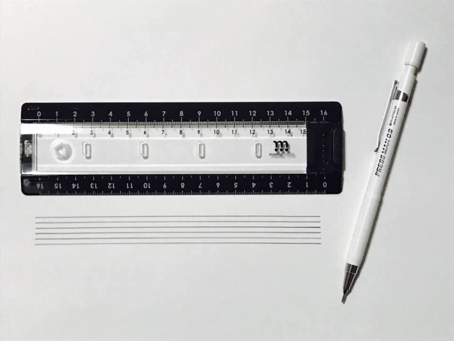 五線譜・タブ譜の線をキレイに、かんたんに引ける「LINE SLIDER」