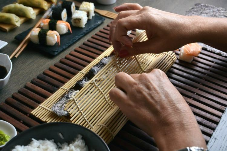 Sushi rolls Cooking class in Kyoto