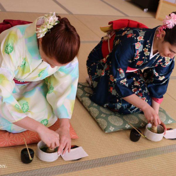 kimono tea ceremony matcha