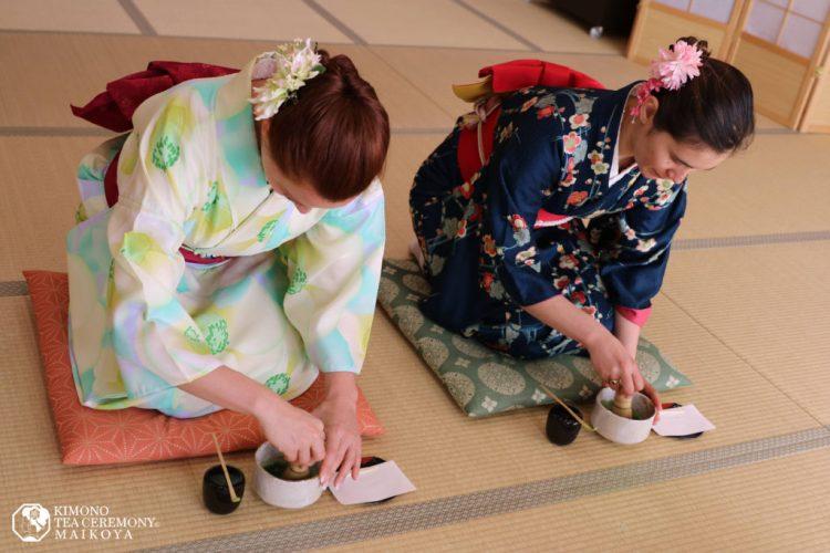 tokyo shinjuku kimono tea ceremony matcha