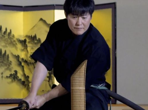 Private Sword Fighting Lesson from a Celebrity Sensei