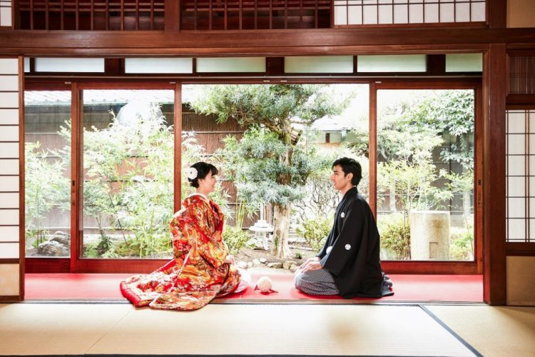Wedding photo honeymoon in Japan