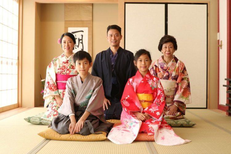 Japan with kids kimono