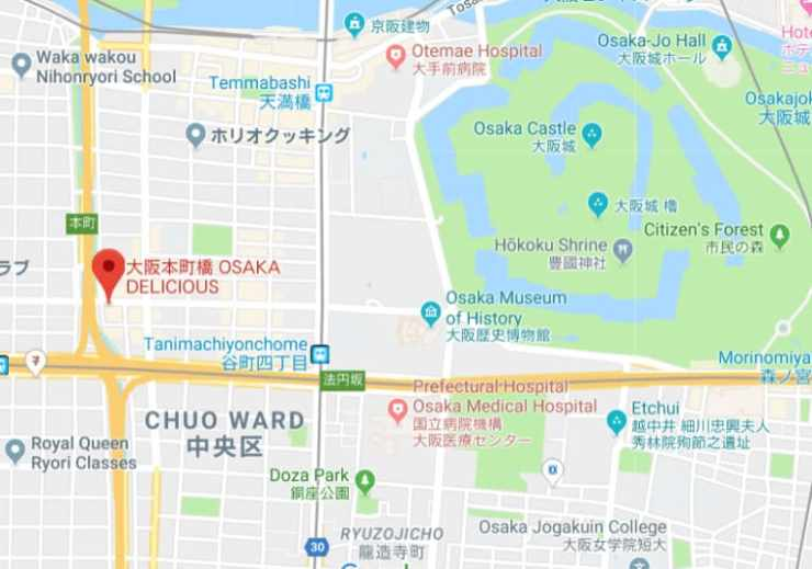 Osaka Delicious map