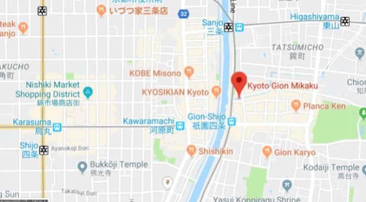 Gion Mikaku Map