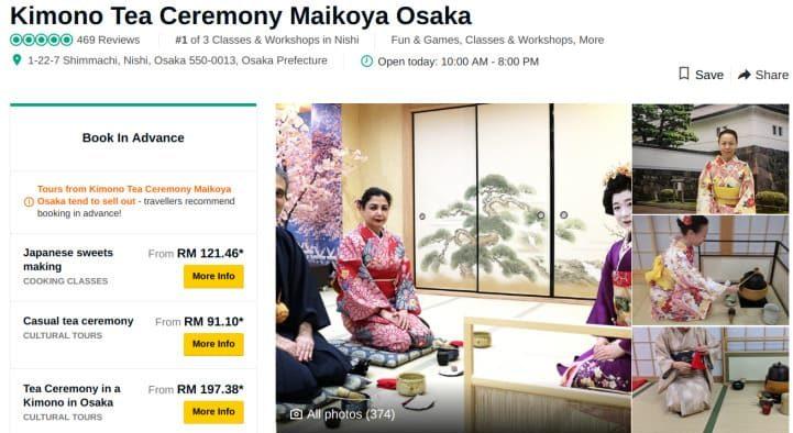 Maikoya Calligraphy Experience Kyoto