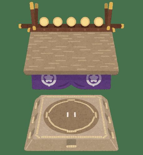 sumo dohyou roof shrine