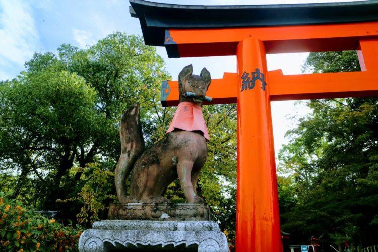 Fushimi Inari Fox holding Scroll