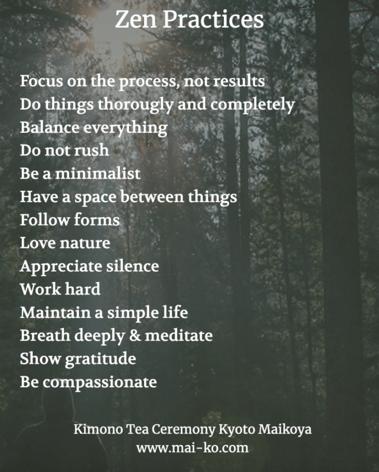 Zen practices