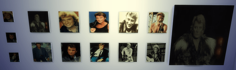 maiagame sims4 créations cc posters johnny hallyday 80