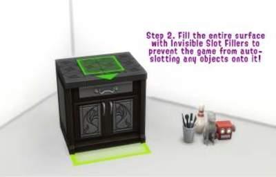 Placez librement des objets sur les surfaces !