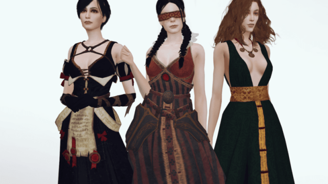 Plazasims : Tenues The Witcher / Dragon Age !