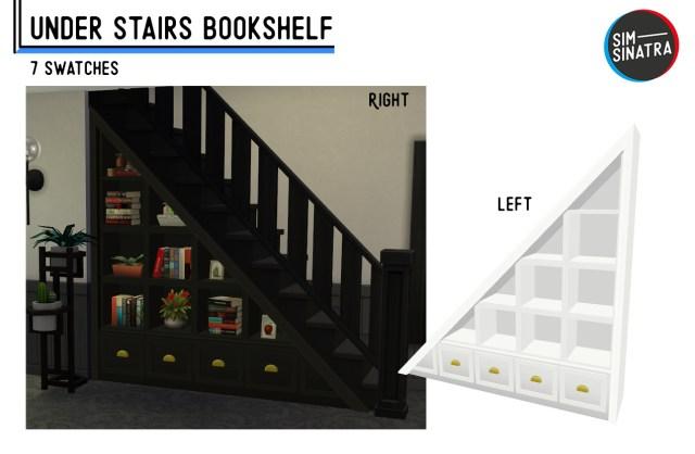Bibliothèque sous les escaliers !
