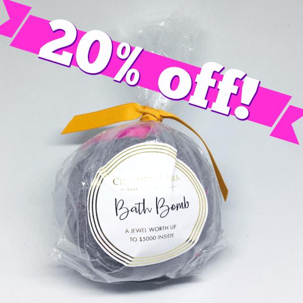 Charmed Aroma Bath Bomb Discount Code | Below Freezing Beauty