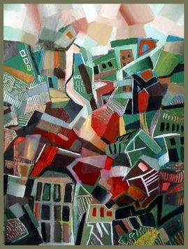 Cubist landscape - romania