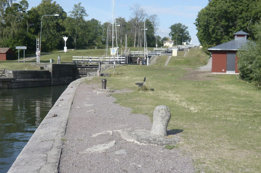 Göta kanal et sa brochette d'écluses Berg