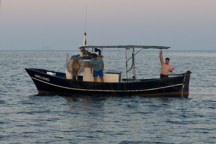 Pêcheur à Porto Pino