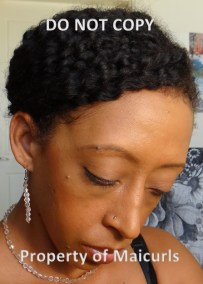 Twist-out Updo