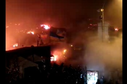 20:15 - Water cannon set on fire