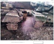 Russian tanks in Mospyne, February 2016. Source: https://twitter.com/VidaLSorokin/status/718137616844132357