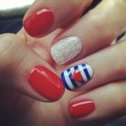 nail art red white & blue