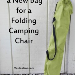 Folding Bag Chair Rubber Feet Sew A New For Camping Diy Tutorial Maiden Jane Do You Need Your Is Yours Made Out Of Nylon And Falling Apart At The Seams I M Embarrassed To Show My Bags