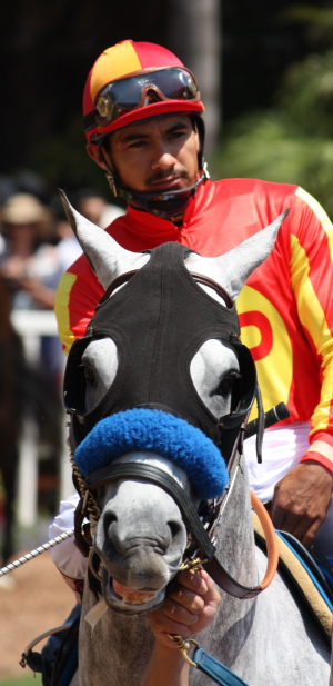 Jockey Pedro Arambula and trainer Silverio Martinez rocked Del Mar with a $30 winner