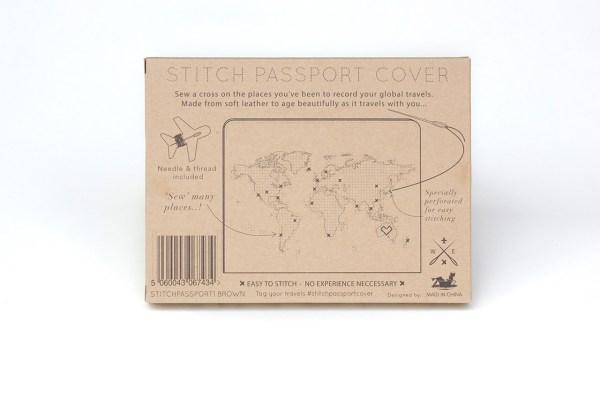 stitch brown passport