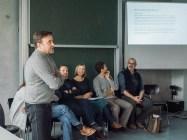 Mr. Jens-Ole Kracht explaining about creative design