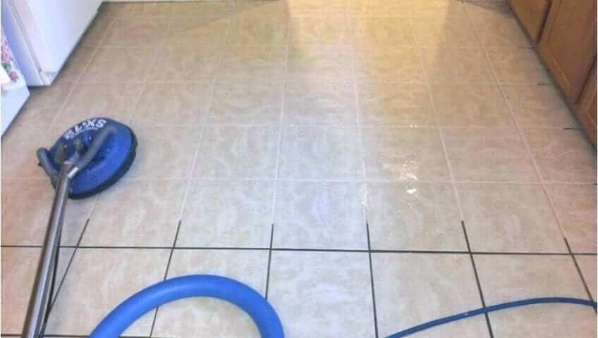 how to deep clean a tile floor maid