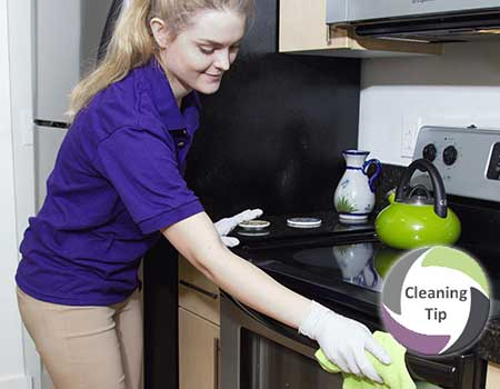 how to get a clean stove top