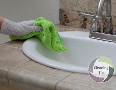 How to Clean a Bathroom Counter | Cleaning Tips | Maids By Trade