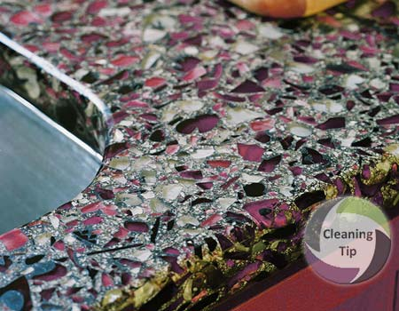 How to Clean Recycled Glass Countertops
