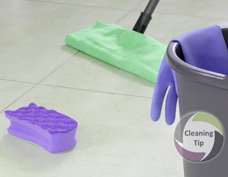 How to Clean a Tile Floor and grout
