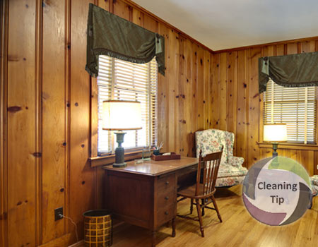 how to clean paneling, how to clean wood paneling