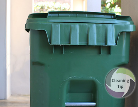 How to clean an outdoors garbage can