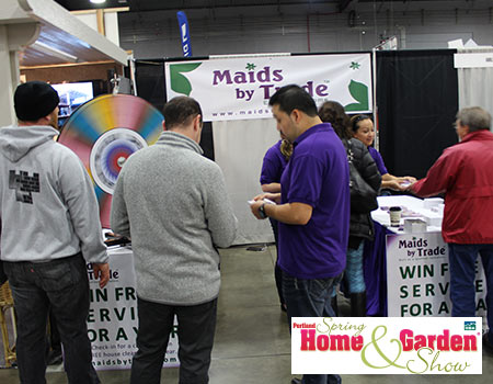 Maids by Trade booth at the Spring Home and Garden Portland Show