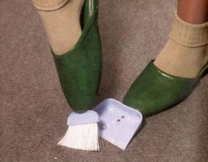 crazy cleaning invention: sweeper shoes