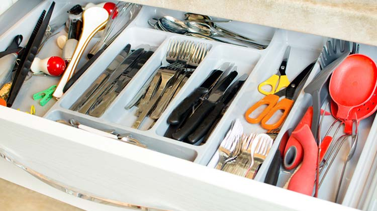 How to Clean Your Utensil Drawer and empty it out