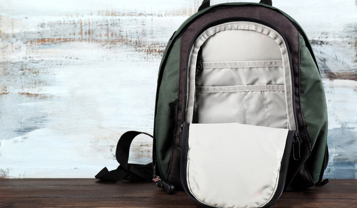 How to Clean a Backpack from inside