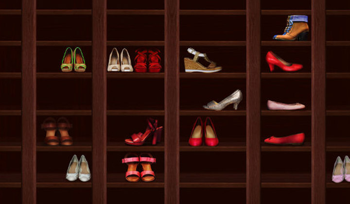 Do the Heel-Toe Shuffle and Increase closet space