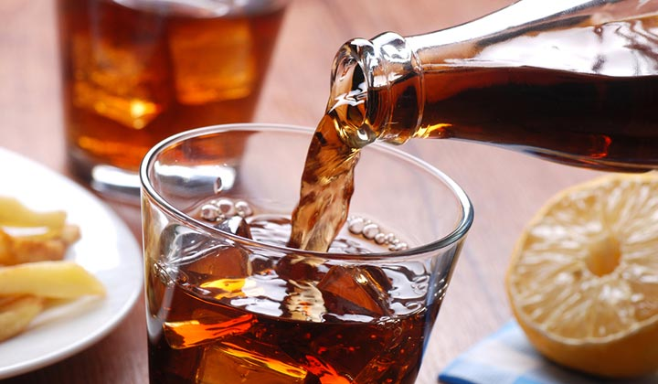 Grab a Soda & Clean Using Cola and remove oil