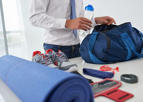 Organizing a Gym Bag Optimizes Time at the Gym