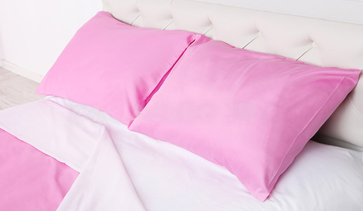 Remove Pillow Cases from Bed Pillows